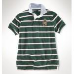 Camisa Polo Verde Escuro Listrada Stripe Ralph Lauren - Cod 0056